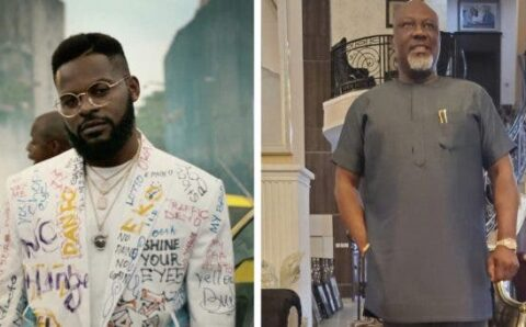 #EndSARS: Falz tackles Sen. Dino Melaye to get ready for their turn