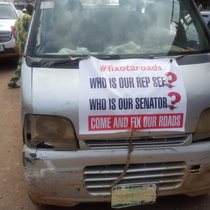 Ogun #EndSARS protest takes new dimension [Video]