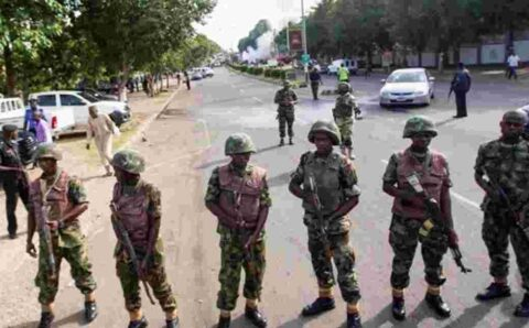 #EndSARS: It has started, military men are now set to intimidate Peaceful Protesters