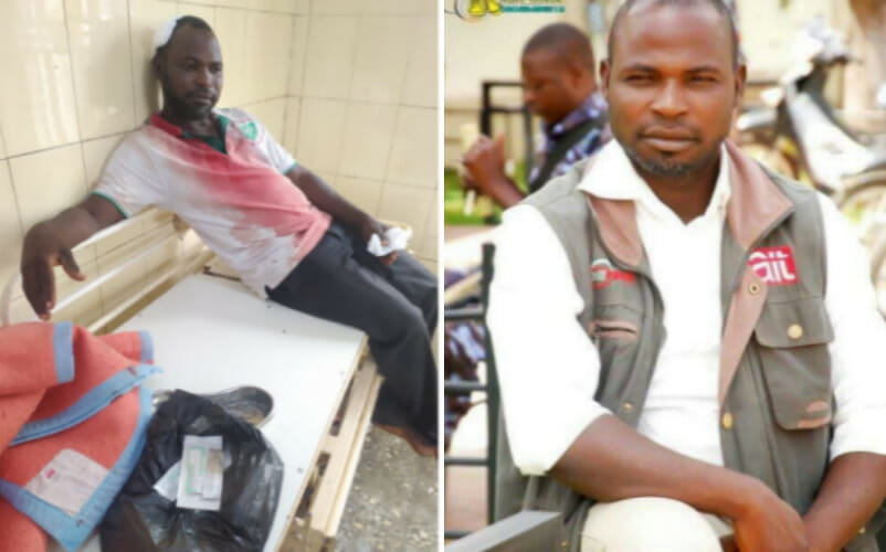 Police beat up a journalist covering a student protest in Bauchi.